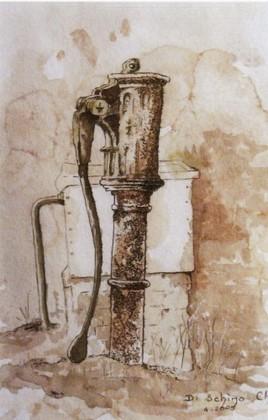 La vieille pompe à bras (50x40).