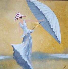 la dame au parasol