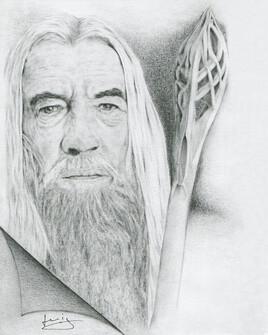 Dessin de portrait de Ian Mckellen