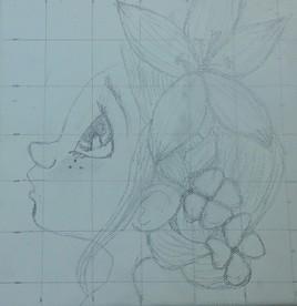 La jeune fille crayonnage... 1