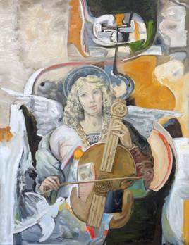 Ange musicien et colombe