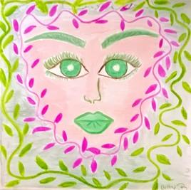 le miroir de la fée du printemps  (aquarelle)