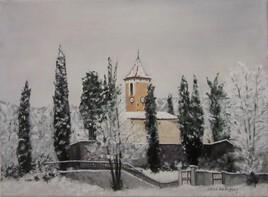 La Penne 06260 la chapelle sous la neige