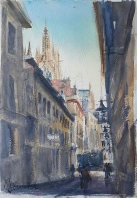 Ruelle à Metz.