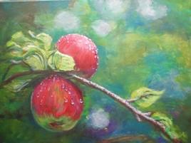 Pomme et rosée