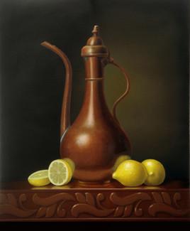 Pichet d'eau et citrons