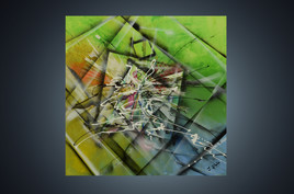 Tableau abstrait et contemporain : Embrouillement