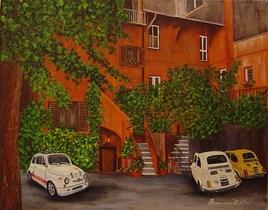 Trois Fiat à Rome