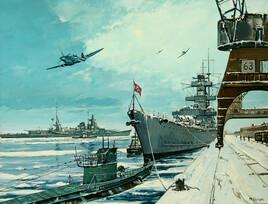 Le croiseur Admiral Hipper.