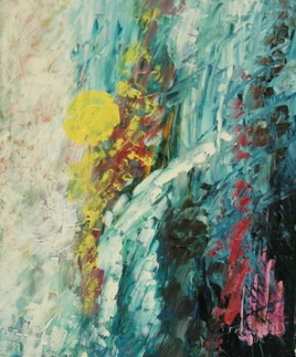 Peinture Soleil ombragé-1996