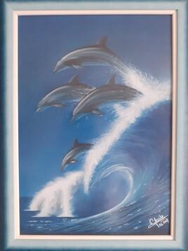 Vague de dauphins