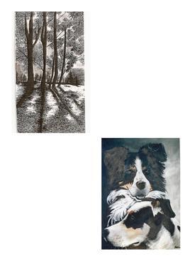 chiens et paysage