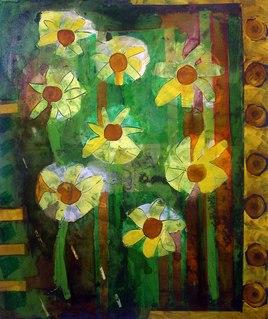 Flowers in a belgian garden