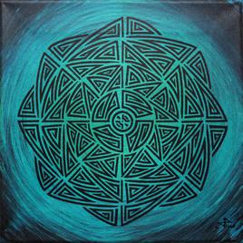 Bleu émeraude tribal