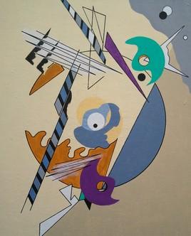 Clin d'Oeil contemporain à Kandinsky Composition III
