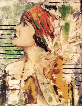 """""""Eclat"""", acrylique sur toile synthétique, 89 x 116 cm."""