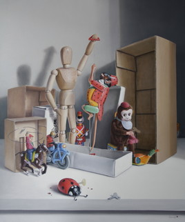 Le cirque des jouets ! (65 x 54 cm) 15 F