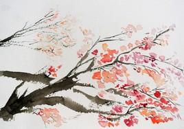 éveil sous l'arbre fleuri