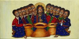 La Cène, Jésus et les apôtres