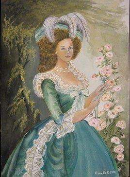 Marie Antoinette avec la fleur