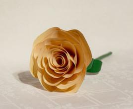 Rose en bois