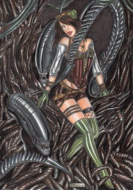 Steampunk Delphine / Alien
