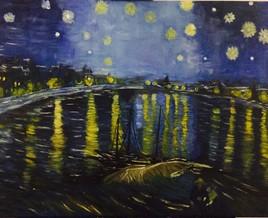 Van Ghoh , Nuit Étoilée sur le Rhône