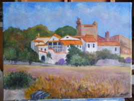 Paysage d'un village en Provence