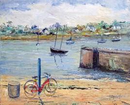 Deux bicyclettes à l'ile Tudy