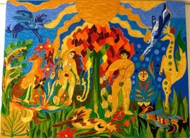 Peinture Mon Jardin d'Eden