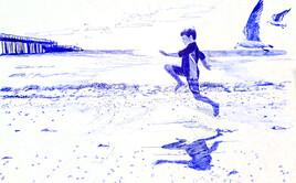 Garçon à la mer