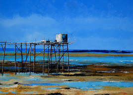 Pêcherie au carrelet sur la côte charentaise 2