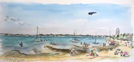 activités de plage à marée descendante