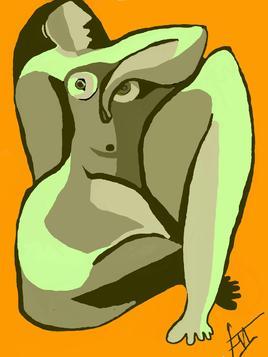 la femme verte