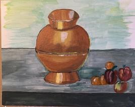 le vase en cuivre