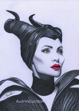 Portrait de Maléfique - Angélina Jolie