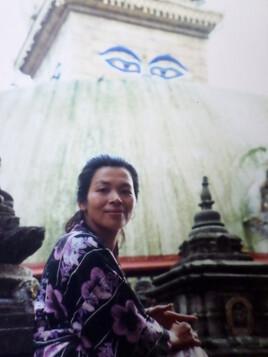 Naoko à Bodnath , Népal