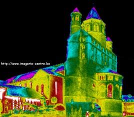 Collégiale de Nivelles vue en thermographie
