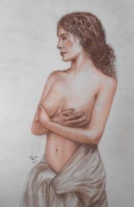 Femme  à la sanguine