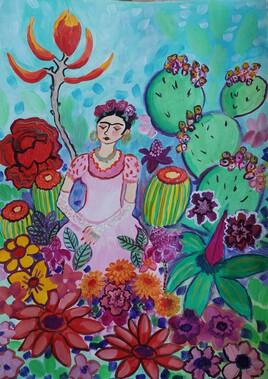 Frida et les fleurs