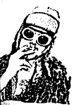 Portrait de Kurt Cobain - Nirvana