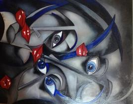 """Peinture """" Abstract Ann' II 2014 """""""