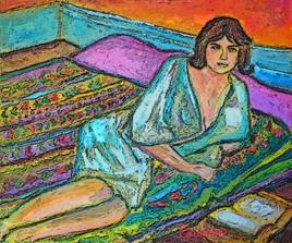 Marie lit toujours au lit