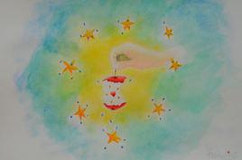 Peinture Son coeur trognon