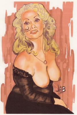 Dame blonde