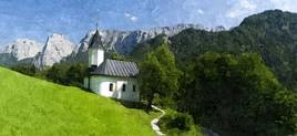 Petite église en pays germain