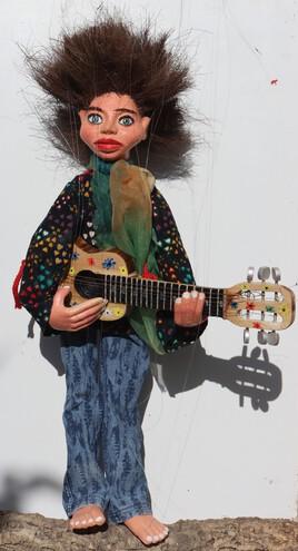 Mimi Brindille marionnette à fils JfG 80 cm