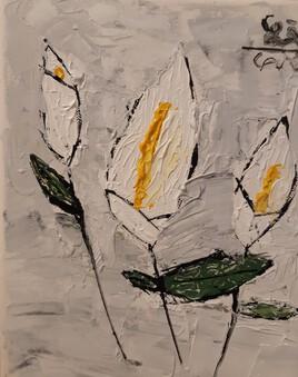 Arum aux feuilles de rosier