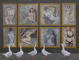 Des oies blanches au musée ( exercice )