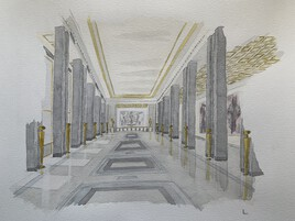 Le grand foyer du palais de Chaillot